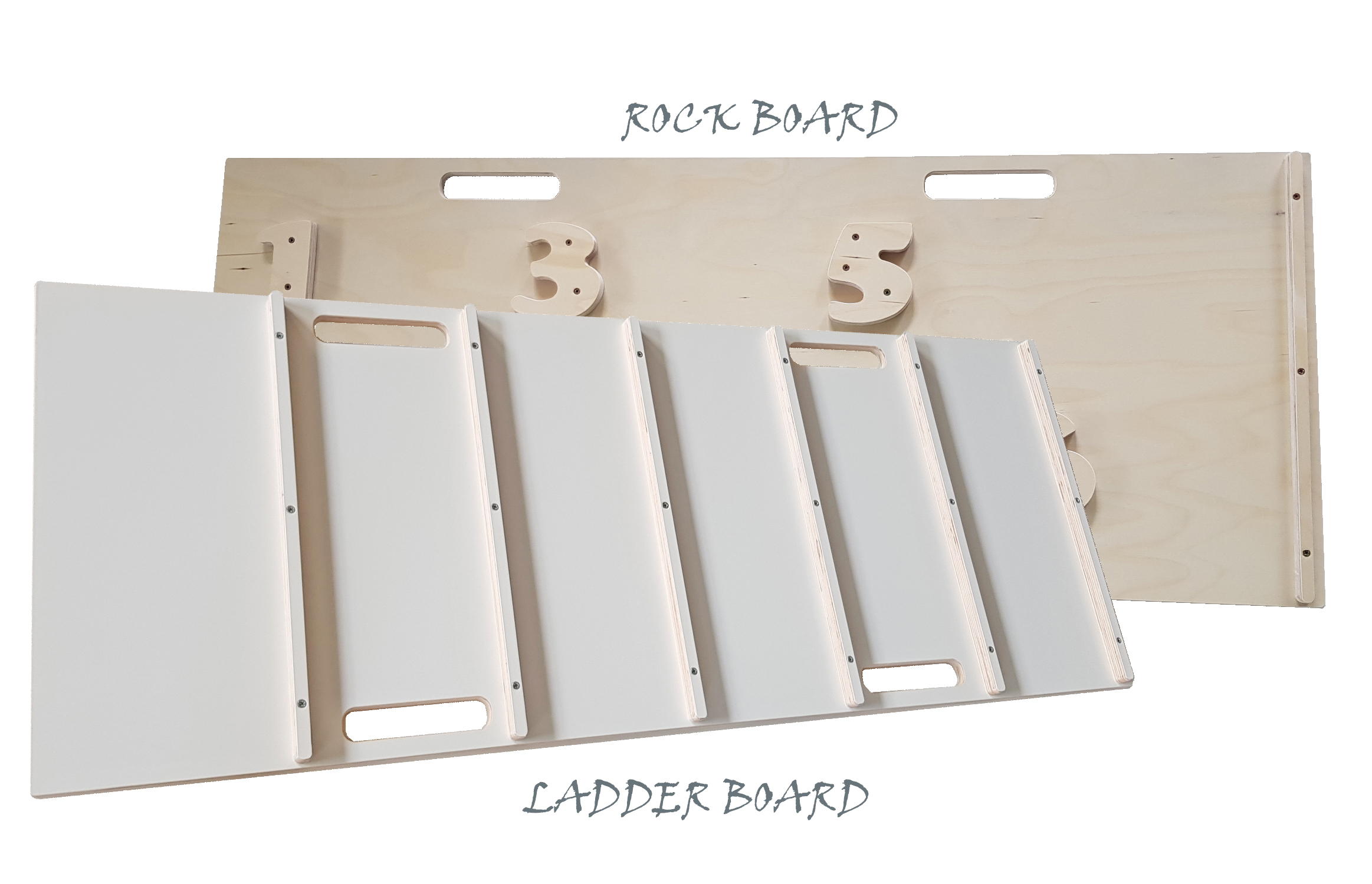 Ladder and rock boards