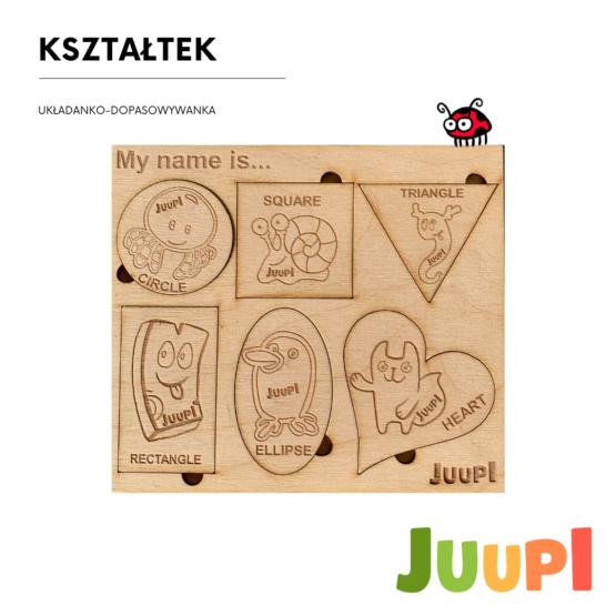 JUUPI Top Montessori SHAPES – wooden puzzle