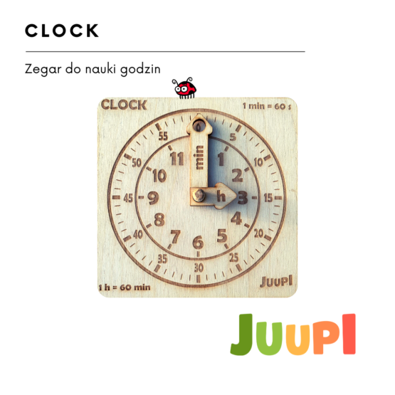 JUUPI ZEGAR do nauki godzin CLOCK