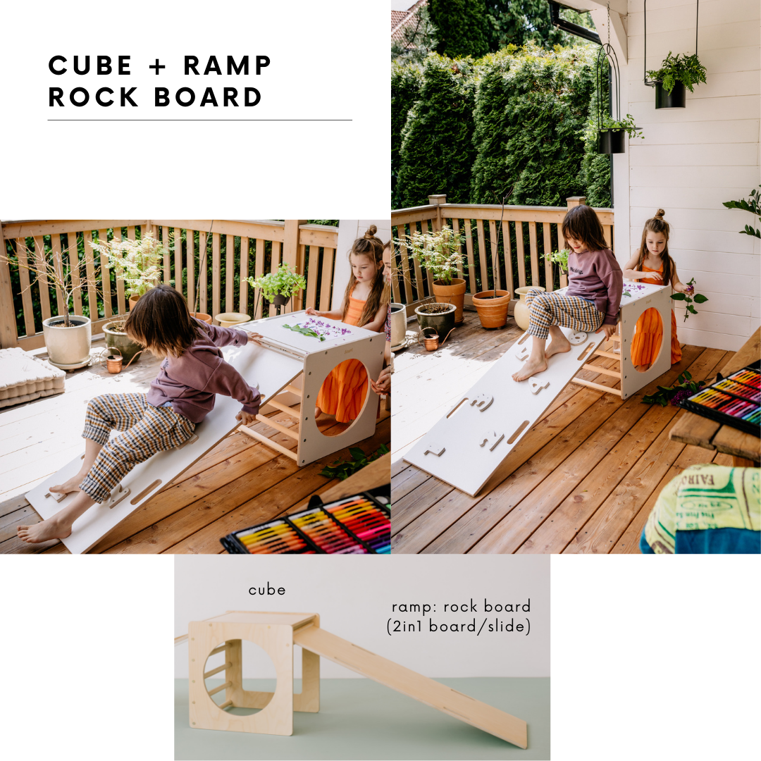 SET CUBE+ROCK RAMP